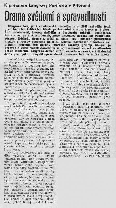 Drama svědomí a spravedlnosti, Nové Příbramsko, roč. VI. (XIV.), čís. 4, 30.leden 1965, s. 3.