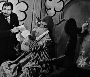 3. Zleva: Jiří Žák (Solfernus), Zdeněk Štěpánek (Belzebub) a Václav Král (Belial) v představení Hrátky s čertem, premiéra 27. 9. 1962