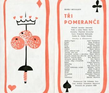 7. Divadelní program kpředstavení Tři pomeranče 1959