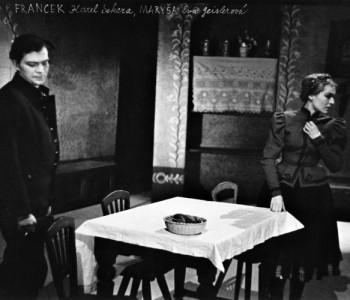 Karel Sekera (Francek) a Eva Geislerová (Maryša) v představení Maryša, premiéra 7. 2. 1961